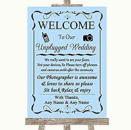 Azul boda señal colección azul sin teléfono cámara Unplugged ...