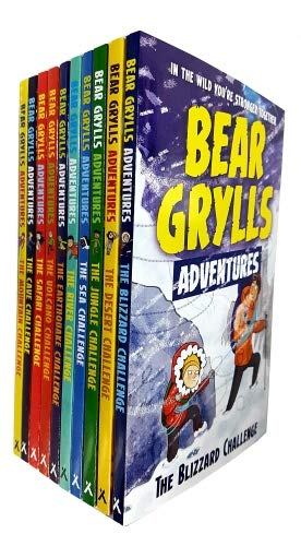 bear grylls adventure collection 6 books set (the blizzard challenge, the desert challenge, the jungle challenge, the sea challenge, the river challenge, the earthquake challenge)