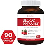 Best Blood Pressure Support Supplement (NON-GMO) - Premium Natural...
