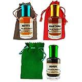 Khus Kasturi Mitti Three 6ml Attar Roll-ons - Ittar Perfume Essential Oil Rollon|Attar itra best quality perfume spray long lasting attar