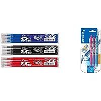 Pilot Frixion – Sets de 3 bolígrafos roller de tinta en los azul, rojo, negro, 3 x 3 unidades (total 9 unidades…