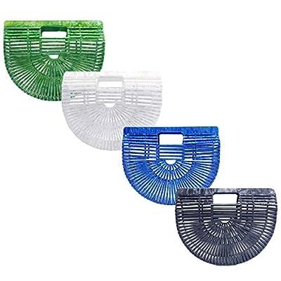Miuco Womens Acrylic Handbag Handmade Ark Clutch Purse