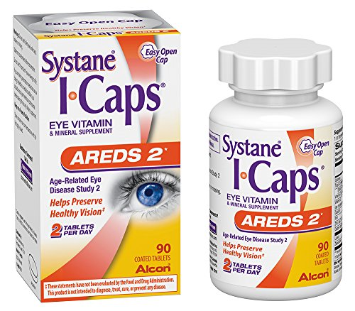 - Systane ICaps  Eye Vitamin & Mineral Supplement, AREDS 2 Formula, 90 Coated Tablets