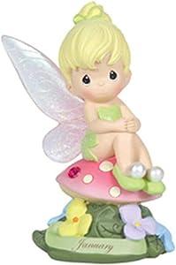 Precious Moments, Disney Showcase Collection, January Fairy As Tinker Bell, Resin Figurine, Garnet, 113208