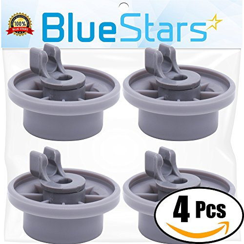 Ultra Durable 165314 Dishwasher Lower Rack Wheel Replacement By Blue Stars   Exact Fit For Bosch   Kenmore Dishwasher   Replaces 00420198 420198   Pack Of 4