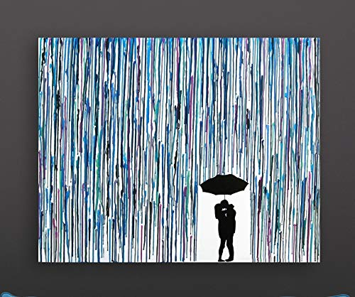 Through The Storm Wedding Art Melted Crayon Art Handmade Home Decor Melted Crayon Art 16quotx20quot