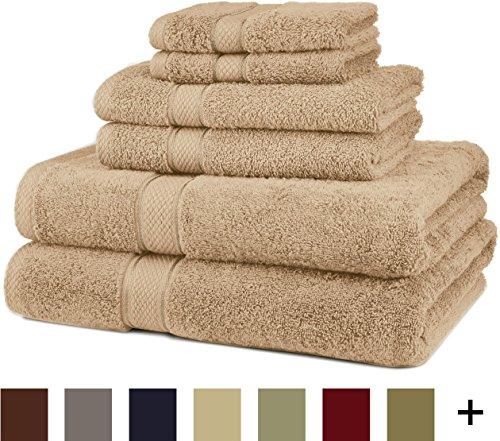 Pinzon Blended Egyptian Cotton 6-Piece Towel Set, Driftwood