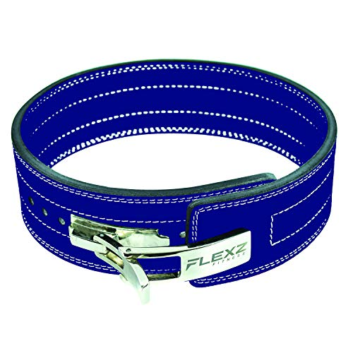 Flexz Fitness Lever Buckle Powerlifting Belt 10mm Weight Lifting Blue X Large by Flexz Fitness (Image #9)