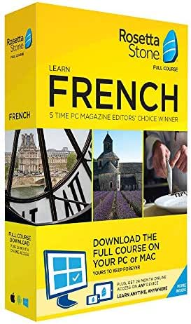 Rosetta Stone Learn French - Download The Full Course On Your PC Or MAC - 24 Month Online Access