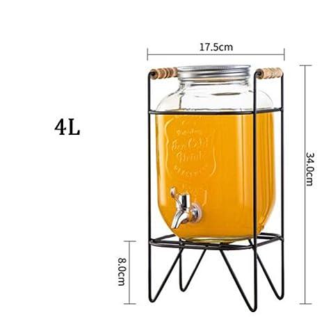 Lata sellada Dispensador de Bebidas - Vaso de Jugo de Vidrio ...