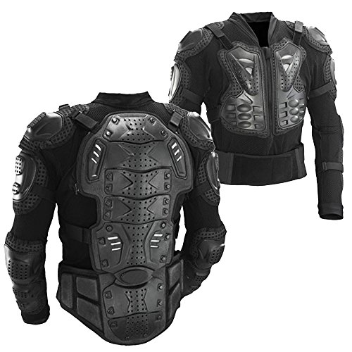 Motocross Motorcycle (Ediors® Motorcycle Full Body Armor Protector Pro Street Motocross ATV Titan Sport Jacket Shirt (Large))