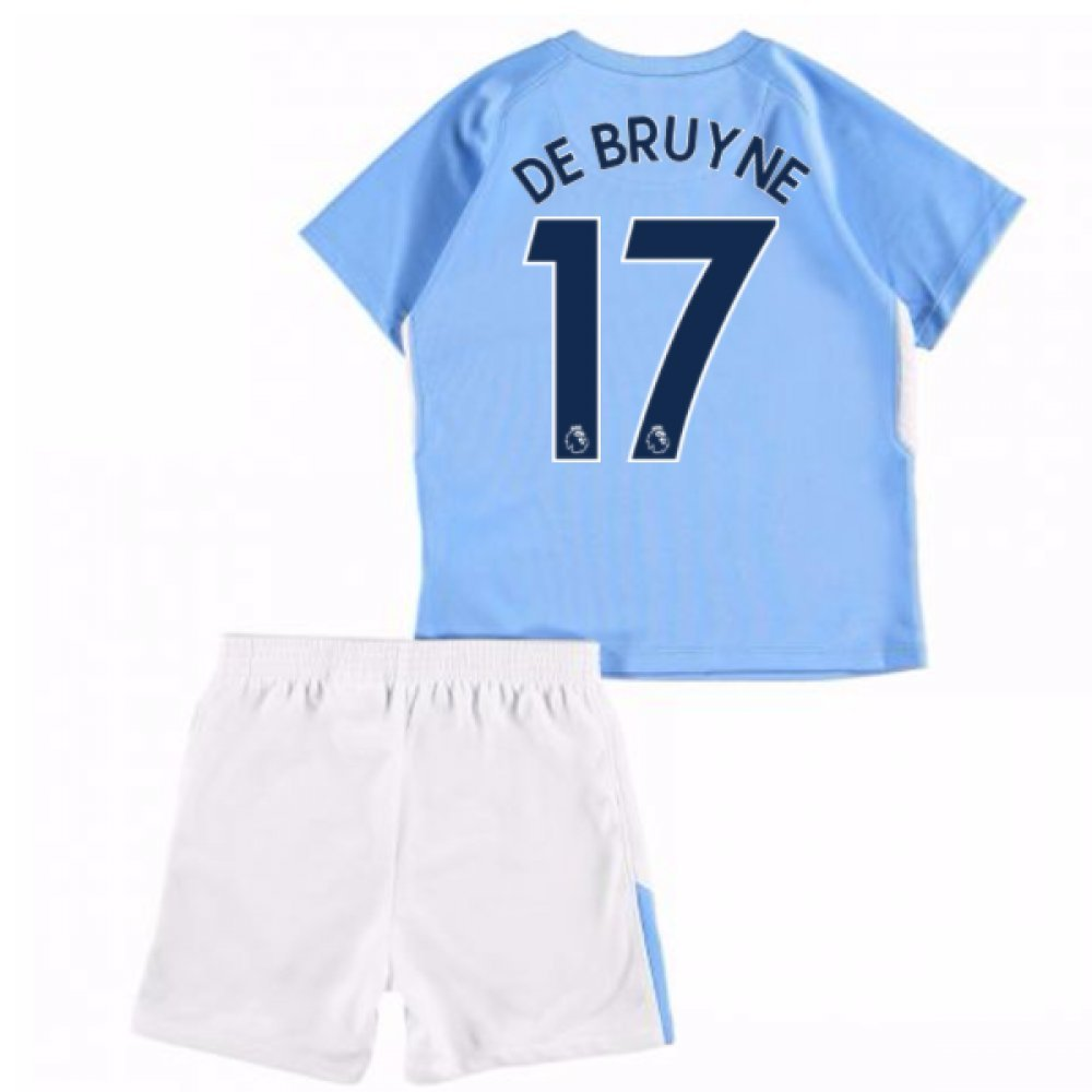 UKSoccershop 2017-18 Man City Home Baby Kit (Kevin De Bruyne 17)