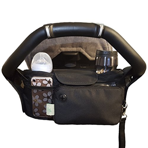 Baby Stroller Organizer Bag, Tray, Bottle Cup Holder, with Multiple Pockets & Compartments for Phone, Money, ID, Sunglasses, Snacks, Coffee, Extra Diaper. Separate Zippered Removable Pouch by Colico (Image #2)