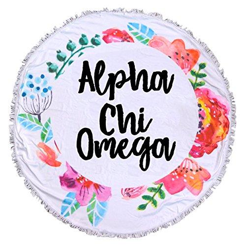 Alpha Chi Omega - Fringe Towel - (Alpha Blanket)