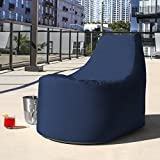 Jaxx Avondale Outdoor Patio Bean Bag Chair, Navy