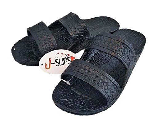 J-Slips Hawaiian Jesus Sandals/Jandals In 4 Cool Colors Unisex (9 B(M) US Women/8 D(M) US Men, Lava - In J Black Men