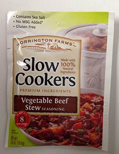 Orrington Farms Vegetable Beef Stew Seasoning for Slow Cookers -3/2.5 oz Packets by Orrington Farms