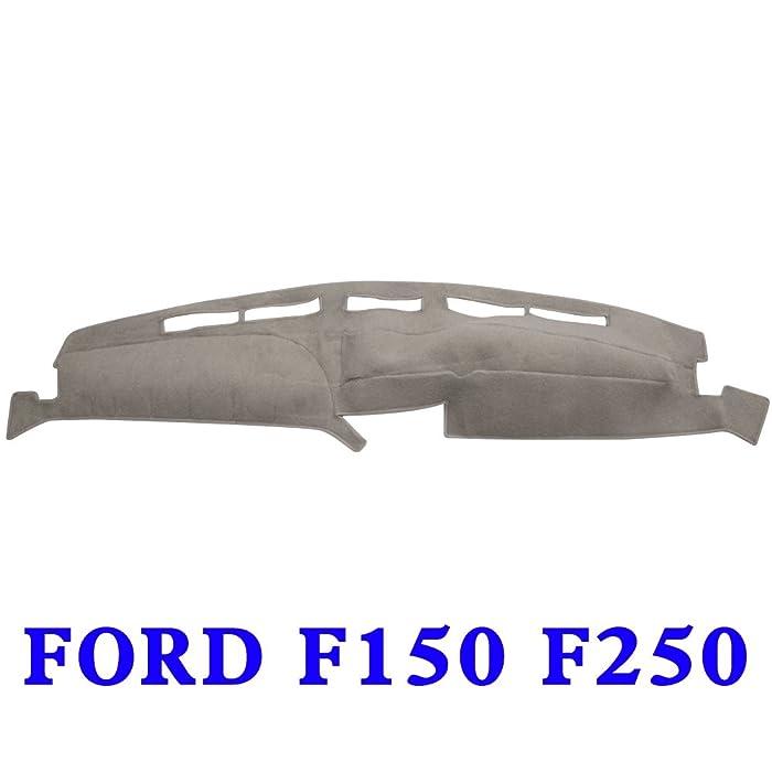 JIAKANUO Auto Car Dashboard Carpet Dash Board Cover Mat Fit for Ford F150 F250 1992-1996(F150 F250 92-96, Gray)