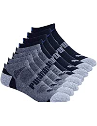 Men's No show Sport Socks, Moisture Control, Arch Support (8 Pair)