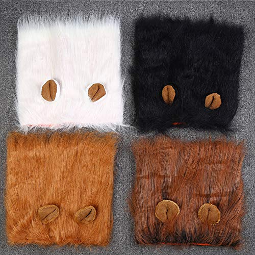 HBK Pet Costume Cat Halloween Clothes Fancy Dress Up Lion Mane Wig for Dogs Festival Dress Up for Large Dogs Accessories -