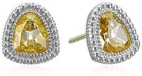 Judith Ripka Margot Yellow Stud (Judith Ripka Bezel Earrings)