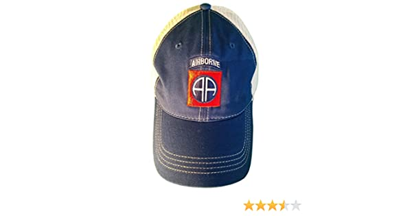 5e207347a Minnesota Bobs 82nd Airborne Hat Patch Unstructured Trucker Style Baseball  Cap Royal/White