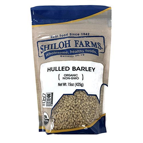 Shiloh Farms Organic Hulled Barley, 15 Ounce Bags (Set of 2)