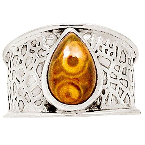 Jasper Ring - Xtremegems Ocean Jasper 925 Sterling Silver Ring Jewelry Size 9.5 16642R