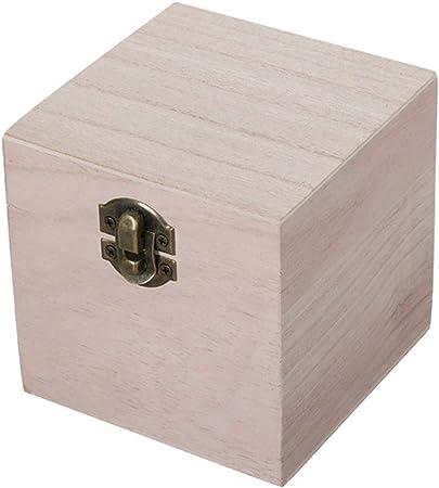 aoory - Caja de Madera para Guardar Joyas, 3 Piezas, con Cerradura y Organizador de Accesorios para baño, Color Blanco: Amazon.es: Hogar