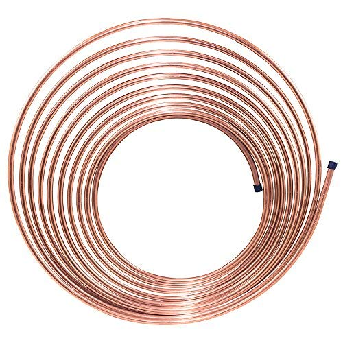 (25 ft 1/4 in Copper-Nickel Brake, Fuel, Transmission Tubing Coil (Universal Size))