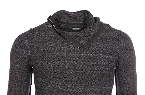 Kaporal - Homme - Pull col montant zippé Naely noir hiver 2017