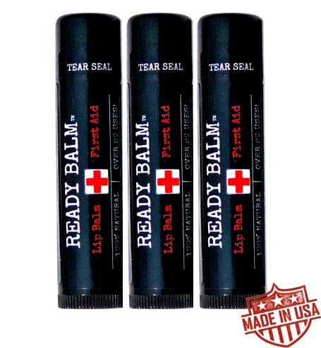 Ready Balm - Lip Balm for Men, Melt Resistant, Non-Glossy Lip Balm and First Aid Salve (3 Pack)
