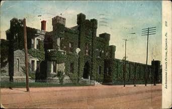 lackawanna county prison scranton pennsylvania original vintage postcard. Black Bedroom Furniture Sets. Home Design Ideas