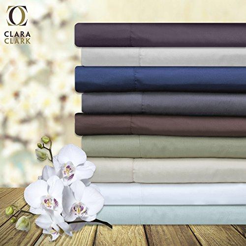 Bamboo Bed Sheet Set Sage Green Cal King Size By Clara