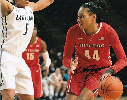 (BETNIJAH LANEY signed (CONNECTICUT SUN) WNBA *RUTGERS* 8X10 photo W/COA #1 - Autographed WNBA Photos)