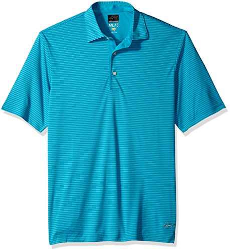 Greg Norman Collection Greg Norman PGA Adult Men ML75 Tonal Stripe Polo,Medium,Aquamarine price tips cheap