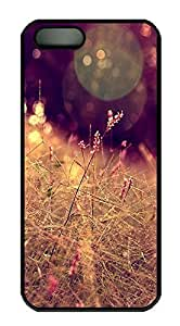 iPhone 5 5S Case Grass Closeup Halo Bokeh Effect PC Custom iPhone 5 5S Case Cover Black