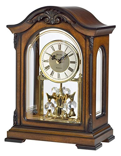 - Bulova B1845 Durant Chiming Clock, Walnut