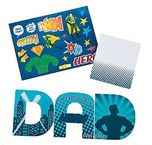 Super Dad Father's Day Sticker Cards (1 Dozen) -