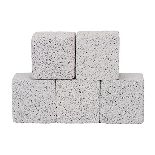 Natural Hamsters Chew Toy 5pcs Lava Teeth Grinding Square Stone For Parrot Small Animal Chinchillas and Rabbits (square-5)