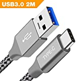 USB Type C Cable,BrexLink USB A to USB C 3.0 Fast Charger and Data Sync Nylon Braided Charging Cable for Galaxy S8 Plus Note 8,Huawei P9 Mate 9 10 Plus,LG G5 V20 V30,HTC 10,Oneplus 5 3T 2,Switch(Grey)