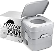 Camping Toilet by Zimmer - 5 Gallon Portable Toilet - Small Porta Potty with Big Performance for Travel &