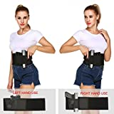 AceZone Belly Band Holster for Concealed Carry,Neoprene Waist Band Handgun Carrying System Elastic Hand Gun Holder Spare Magazine Pouch For Pistols Revolvers For Men and Women