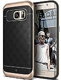 Galaxy S7 Edge Case, Caseology [Parallax Series] Modern Slim Geometric Design [Black / Gold] [Textured Grip] for Samsung Galaxy S7 Edge (2016)