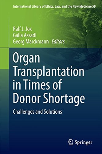 Organ Transplantation in Times of Donor Shortage: Challenges and Solutions (International Library of Ethics, Law, and the New Medicine)