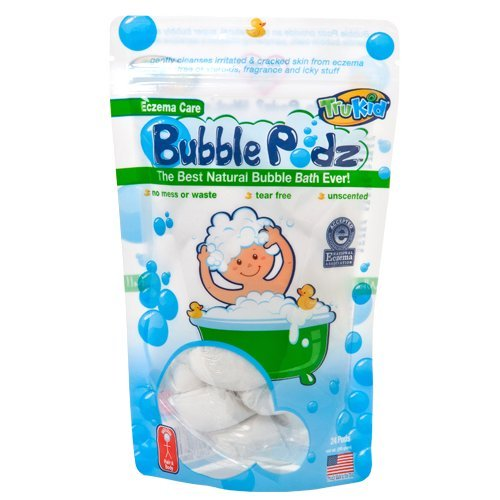 TruKid Eczema Bubble Podz, Natural Bubble Bath with Oatmeal, Aloe & Vit E., Unscented, 24 count