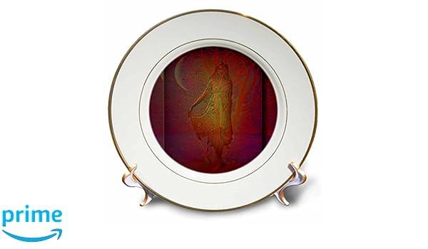 8 3dRose cp/_22329/_1 Tree Goddess Wicca Pagan Gaia Wiccan Goddess Tree Nature Spiritual Spirit Mythology Porcelain Plate