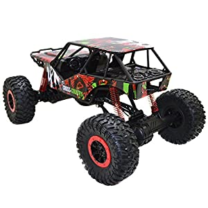 1/10 Scale 2.4Ghz 4 Wheel Drive Rock Crawler Radio Remote Control RC Car Toy Red