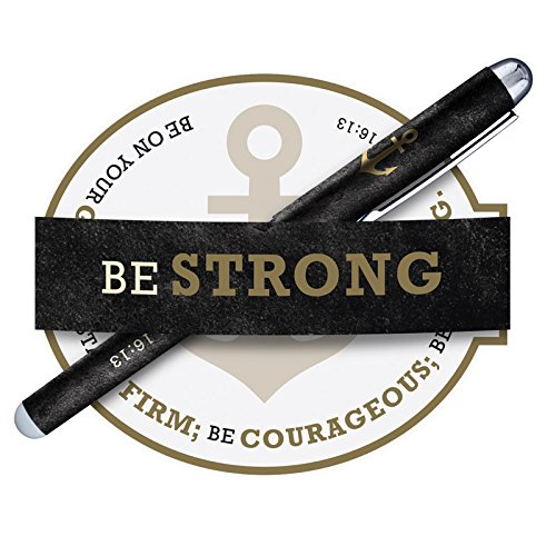 US Gifts Be Strong Gift Pen with Notepad - 12/pk