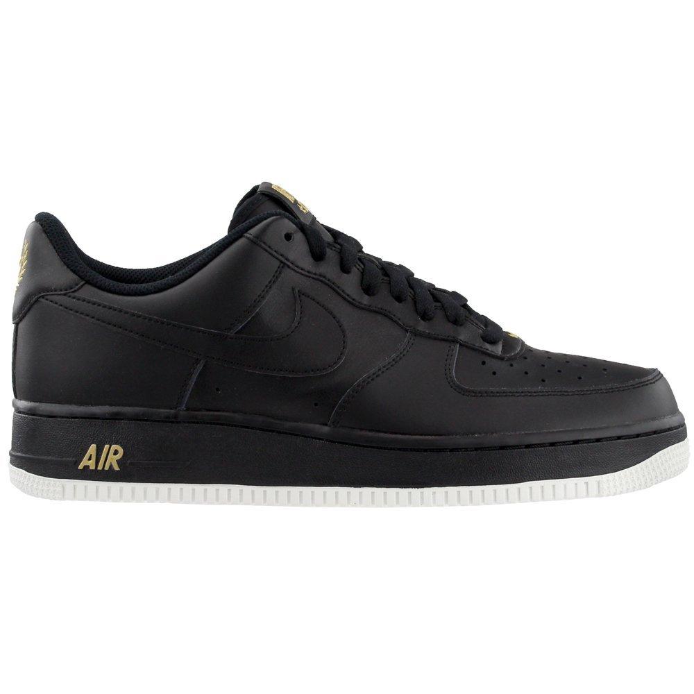 the best attitude 11fd6 2e9a1 Nike Schuhe – Air Force 1 '07 Schwarz/Weiß/Golden Größe: 45.5: Amazon.de:  Schuhe & Handtaschen